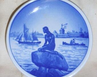 Royal Copenhagen Denmark Faence  Langeline Mermaid Collectible Plate