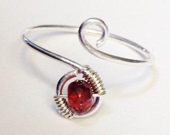 Garnet Ring   Garnet Gemstone Ring   Garnet Jewelry   Sterling Silver Ring   Silver Ring