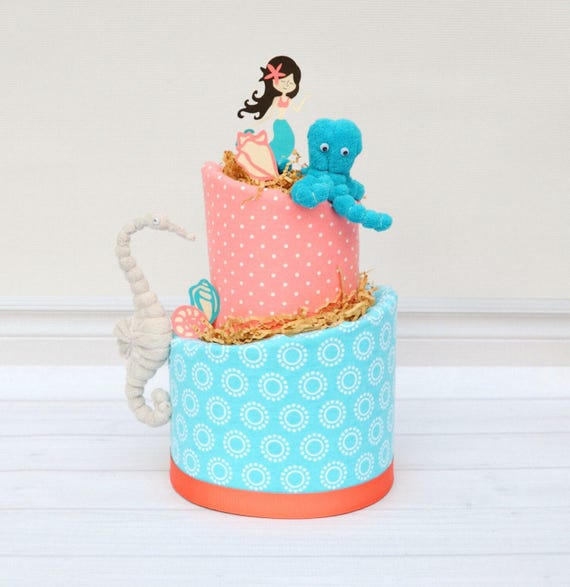 Little Mermaid Baby Cake