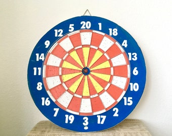 Large Vintage Dart Board, Double-Sided