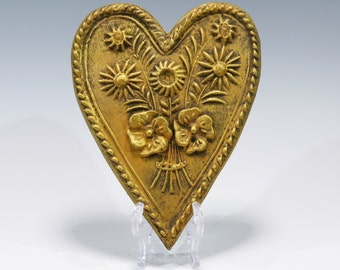 Valentines Springerle Heart Ornament Valentines Gift Valentines Heart Chalkware Ornament Chalkware Heart Ornament Springerle Heart
