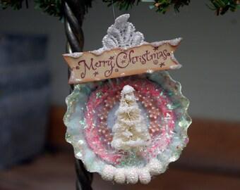 Tart Tin Bottle Brush Ornament