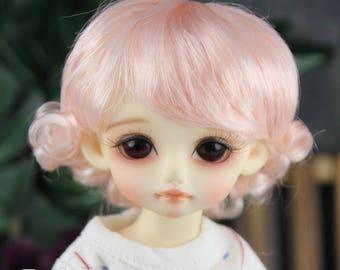"""Fatiao - New Dolls Wig Dollfie Yo-SD 1/6 BJD 6-7"""" size - Light Pink"""