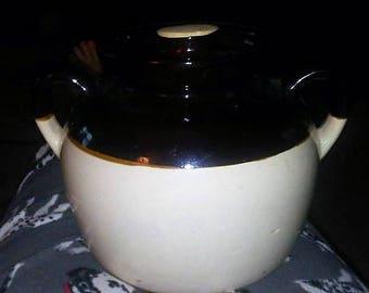 Vintage U.S.A Bean Pot Crock