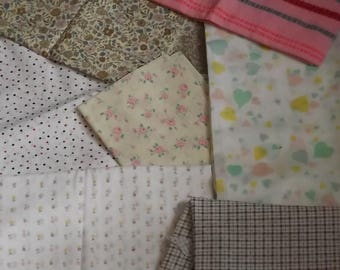 Fabric Remnants, Selection of Fabric Pieces, Craft Fabric Remnants