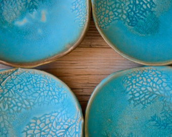 Reserved for NAOMI & TOM'S Wedding - Ceramic dessert plates salad platesWedding Gift  - stoneware