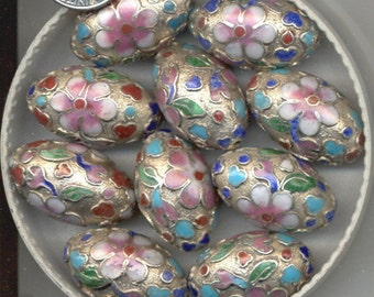 Hand Made Cloisonne Oval, Round, Teardrop and Disc Beads, Many Colors , B2088. B2089.B3056.B3057 *