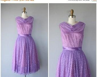 25% OFF FLASH SALE.. Vintage Lavender Lace Prom Dress   Vintage 1950s Prom Dress   50s Dress   1950s Lace Party Dress   50s Party Dress   19