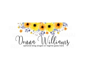 Blog Header - Blog Design - WordPress Header - Blogger Header - Watercolor Floral BPSD 2