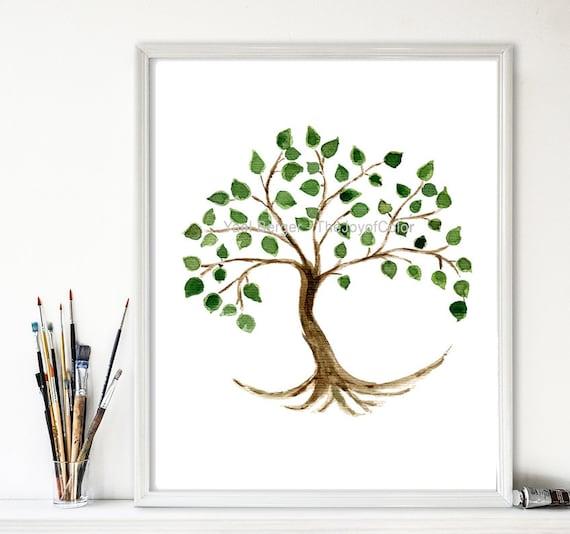 Tree of life art print tree painting tree of life art for The art of minimalist living