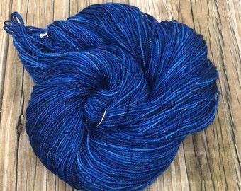Sparkle Sock Yarn Fathoms Deep Hand Dyed Hand Painted Navy Blue sockyarn 438 yards superwash merino nylon stellina fingering