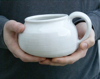 Pottery salt pig for your kitchen - wheel thrown and glazed in brilliant white