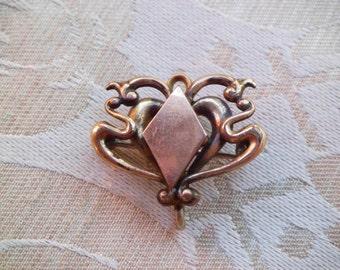 Antique Art Nouveau Watch Pin Enhancer