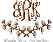 Cotton Branches Machine Embroidery Design