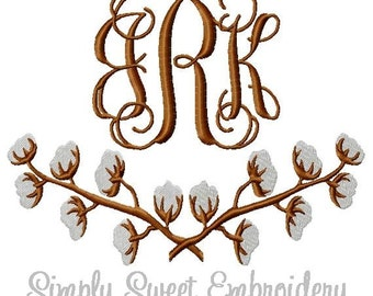 Cotton Branches Machine Embroidery Design