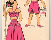 Vintage 1940s New York 459 Sewing Pattern Girls' Bodice, Skirt and Shorts Size 8