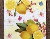 PN-219. Lemon Paper Napkins for Decoupage Fruit Napkins for Art Luxury Napkins Design Napkins Wedding Birthday DECOUPAGE SERVIETTE