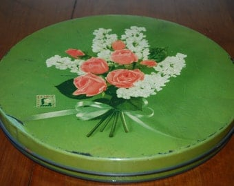 Vintage Candy Tin - Loft's  - Roses and Lilacs - Cottage Chic - Romance - Love Letter Tin