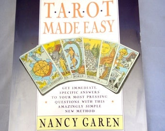 Vintage 1989 Tarot Made Easy by Nancy Garen - Paperback Book