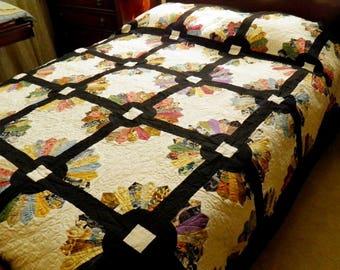 Oriental Fans Handmade Quilt