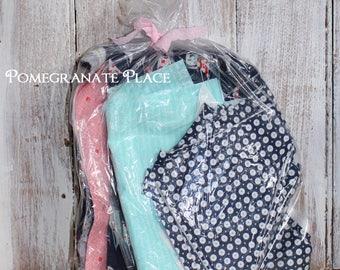 Half Pound scrap bag ... Daysail by Bonnie and Camille  Moda ... sailboats, navy, red, aqua, natical