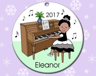 Piano Recital Girl Personalized Christmas Ornament