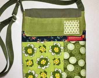 Vintafe greens - Mini Messenger purse