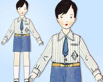1920s Vintage Butterick Sewing Pattern 1385 Uncut Little Boys Suit Size 8 25 B