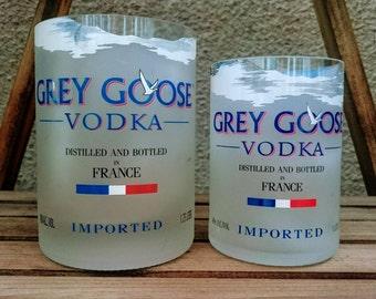 Cut Grey Goose Vodka Bottles For Candles or Cocktail Glasses