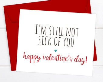 Funny Valentineu0027s Day Card, I Love You Card Snarky Greeting Card Awkward  Funny Saying