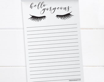 To Do List. Grocery List. Notepad. Shopping List. Hello Gorgeous Notepad. List Pad. Jotter Notepad.