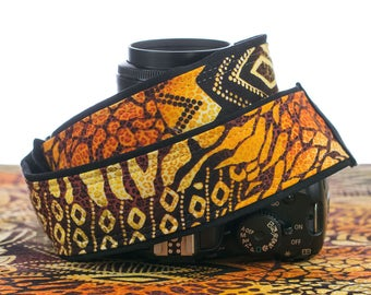 Camera Strap, dSLR, SLR, Camera Neck Strap, African Tribal Print,  Canon, Nikon, Mirrorless, Photography, 096