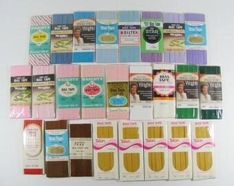 Bias Tape 25 Packages of Vintage Sewing Trim