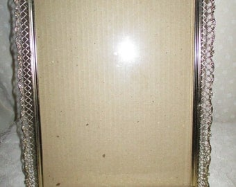 Ornate Gold Tone Picture Frames 8 x 10, glass