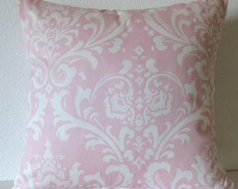 Pillow Cover - Pink - Damask - Bella Pink - Decorative Cushion Cover