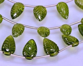 Vesuvianite Carved Leaves  AAA Vesuvianite Briolettes