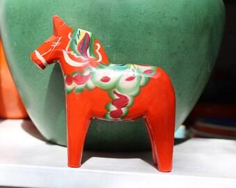 Dala Horse Red 5 inch Swedish Olssen Sweden Akta VINTAGE by Plantdreaming