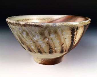 Rice Bowl, Salad Bowl, Cereal Bowl, Side Dish Bowl, Woodfired Porcelain Blend Ceramic Pottery by Justin Lambert