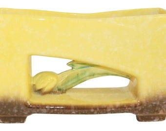 Roseville Pottery Artwood Yellow Planter 1056-10