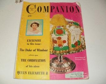 Vintage Womans Home Companion Magazine June 1953 - A Young Queen Elizabeth 2 - Vintage Ads, Fashions, Paper Ephemera, Collectible