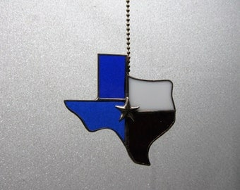 Texas State Stained Glass Ceiling Fan Pull