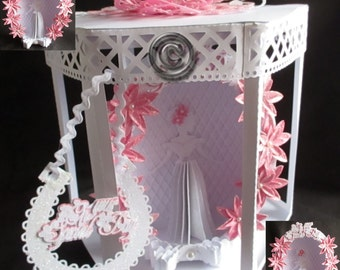 Bride Aperture & box TF0030, SVG,MTC,SCAL,ScanNCut,Cricut,Cameo