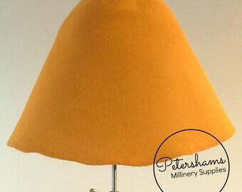 Rabbit Fur Felt Cone Hat Body for Millinery & Hat Making - Sunset Orange