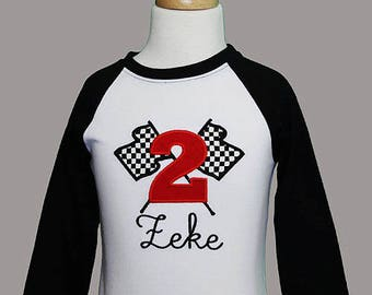Checkered Flag Birthday Shirt, Race Car Birthday Shirt, Boys Checkered Flag Birthday Shirt, Boys Race Car Birthday Shirt, Custom Boys Shirt