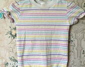 Girls vintage Health-Tex pastel striped top 3t