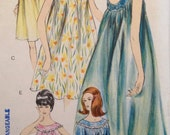 Vintage 60s Nightgown & Panties Pattern Vogue 5725 Uncut FF 32 bust size 11