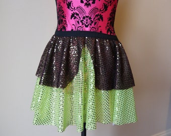 Yoda Skirt, Yoda Costume, Starwars Costume, Running Skirt, Running Skirt, Sparkle Running Skirt, 5K Skirt, Princess Skirt