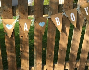 It's A Boy Banner Its a Boy Sign Boy Paper Flag Baby Shower Baby Shower Decoration Boy Baby Shower Decor Maternity Photo Prop  READY TO SHIP