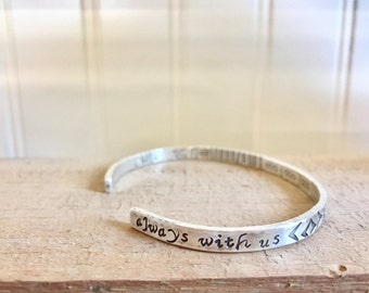 Memorial In Memory Bracelet Personalized sterling silver Memorial bracelet
