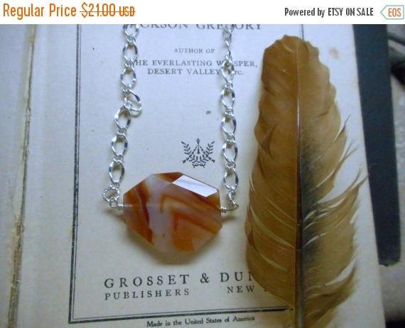 The Orange Creamsicle Druzy Necklace. Geometric Creamy Orange Carnelian Druzy Necklace. A Stone Temples necklace